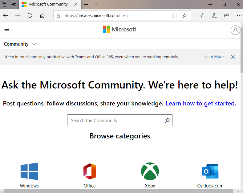 Join Microsoft Community discussion forum
